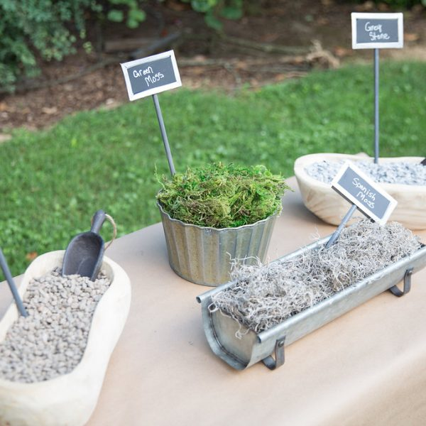 selection of planting materials on table